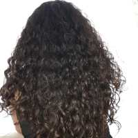 virgin,natural curly,dark brown hair