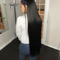 Brazilian Hair Black 10A grade Virgin cuticle aligned hair 17-18 Inches Long / Virgin Hair