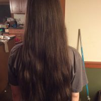 "Brown hair 16"" virgin hair"