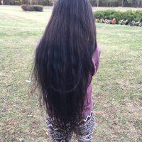 Dark brown Slavic hair