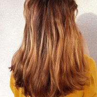 Dark blonde 10-15 inches, thick, will shave entire head for max length