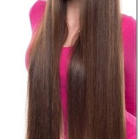 SELLING FOR CHARITY 30 INCHES VIRGIN BLONDE BROWN Never Blow Dried Hair