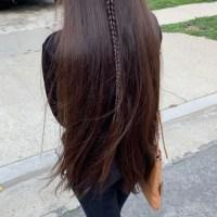 Brown healthy virgin hair 12 inches long