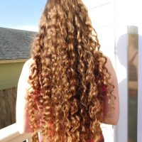 curly virgin auburn hair 20-24 just trimmed
