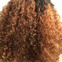 long Ethiopian curly hair