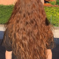 15 inches of natural red wavy hair for sale!