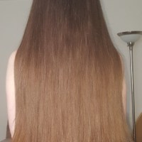 Natural heavy straight hair, never colored, very healthy