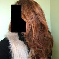 """10"""" Locks of Virgin Red Hair"""