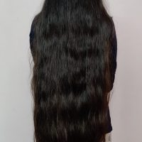 30 Inches long black Virgin hair 4.5 inches thickness