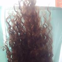 BROWN CURLY HUMAR HAIR FOR SALE!!