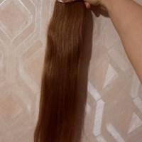"""23.6"""" LONG virgin Russian hair, auburn/ brown, fresh cut, human hair, ponytail, e.28oz"""