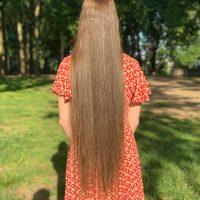 "30""+ x 3.25"" Virgin Light Golden-Brown Straight Soft Hair"