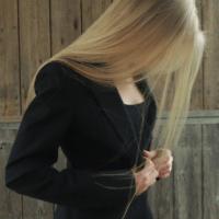 Light blonde, straight, virgin hair - 12 inches