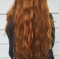 21 inches of Natural Virgin Red Hair
