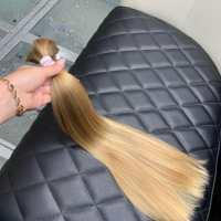 "21.6"" Blonde baby /child hair from 10 y.o. Russian child, virgin hair, fresh cut"