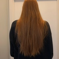virgin straight red hair (8 inches)