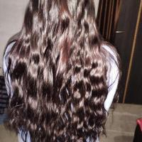 """15"""" Long wavy brown virgin hair"""