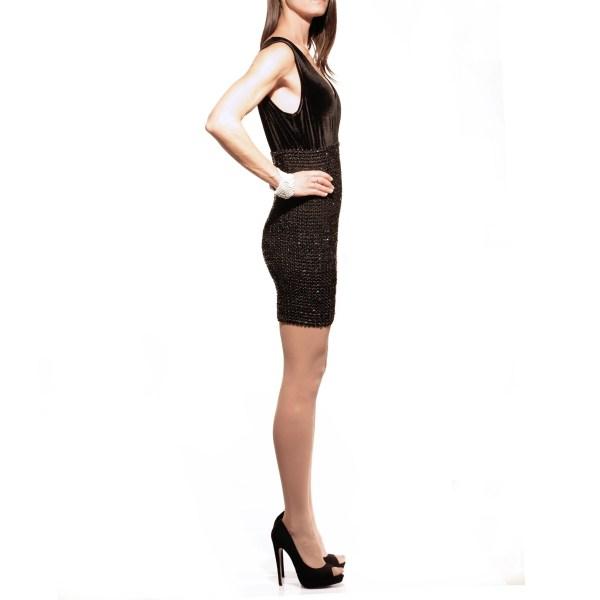 Abito nero paiette S3ss, dress