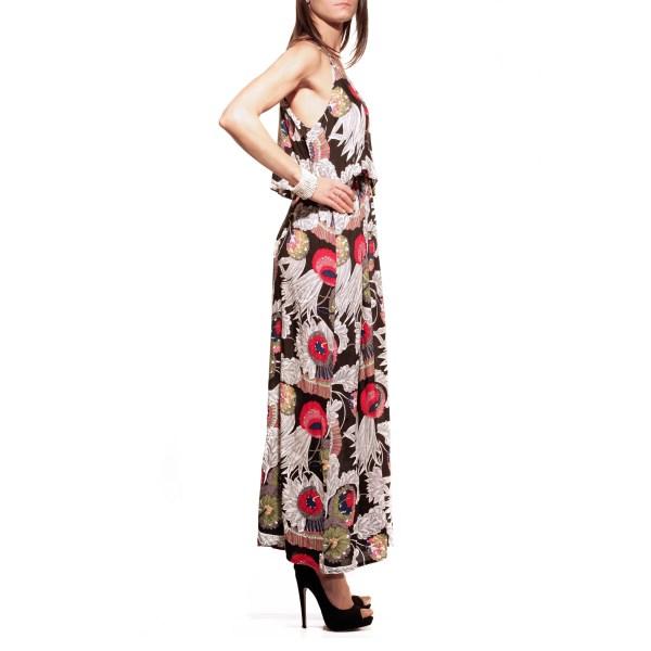 New J, abito lungo, fiori, dress flower