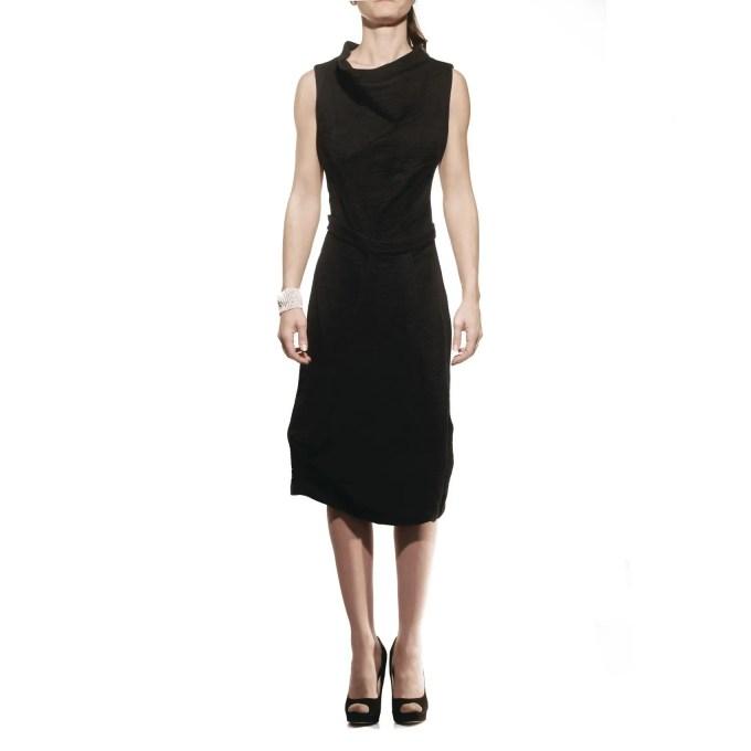 malloni, abito, dress, lana, wool asimmetrico
