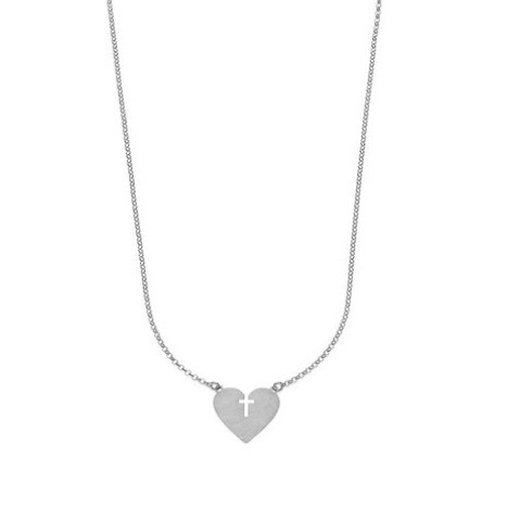 925 silver escapulario mariasalvador necklace with heart and cross , silver, necklace, escapulario, madeinitaly, fashion