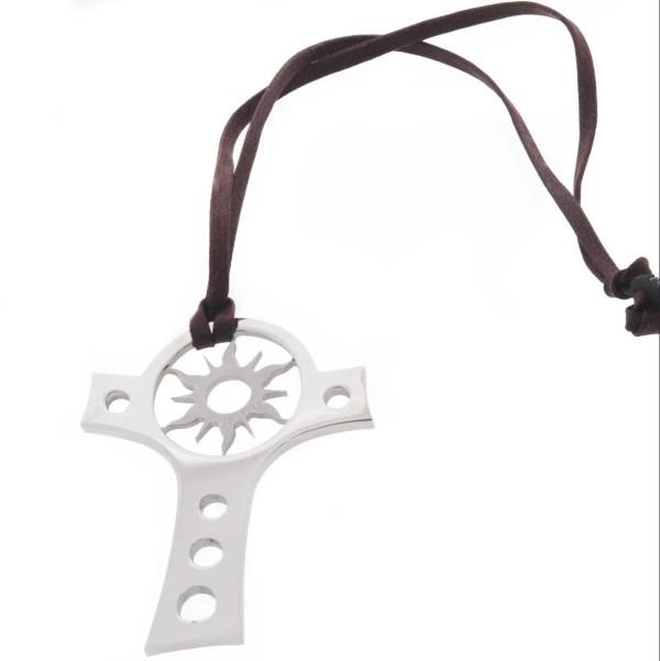Rebecca gioielli collana con pendente croce e sole