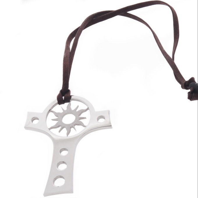 REBECCA - jewelry necklace with pendant cross and sun