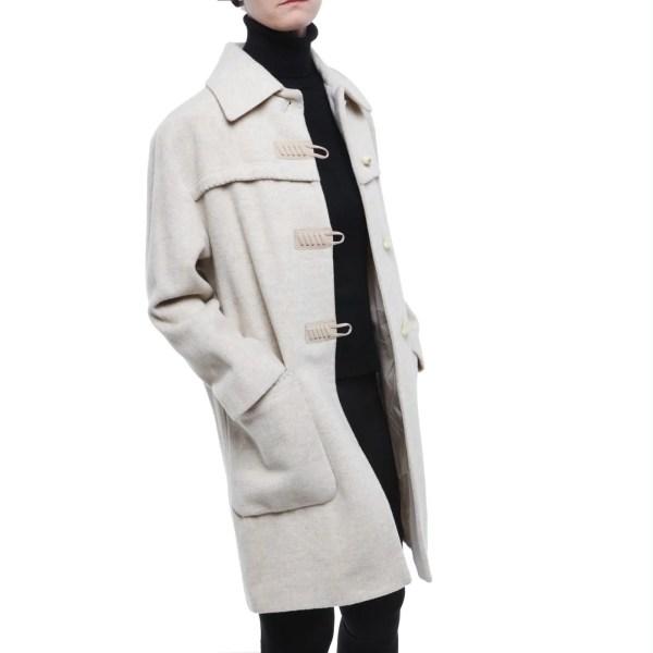 ICA cappotto lana alpaca monopetto