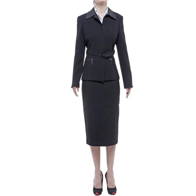 Belville tailleur donna nero lana