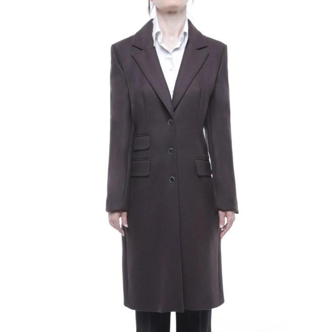 Extè cappotto donna marrone in lana