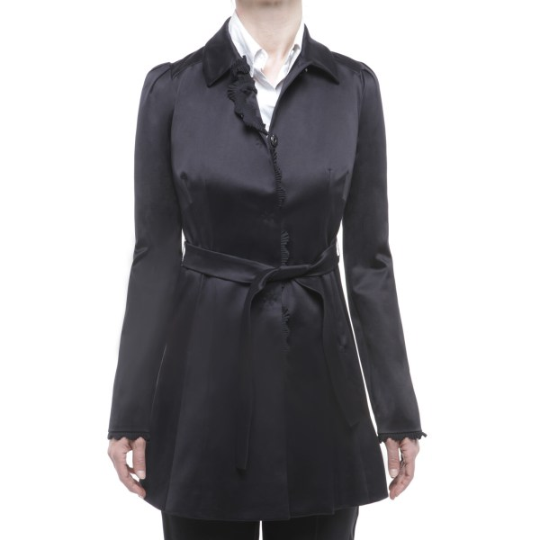 LIU JO - trench coat c/passer black
