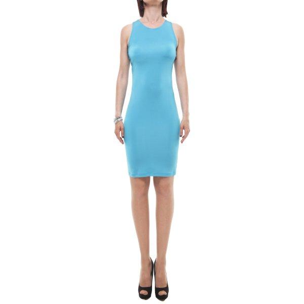 XS Milano abito corto azzurro