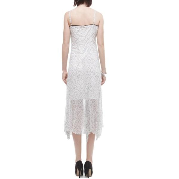 Fed abito lungo donna bianco seta
