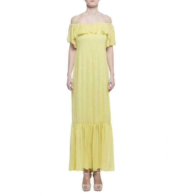 Atos Lombardini abito donna lungo limone IT 40