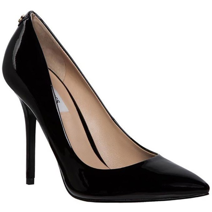 Guess decollette verniciata nera pelle tacco stiletto Scarpa Donna FL4PSMPAT08F