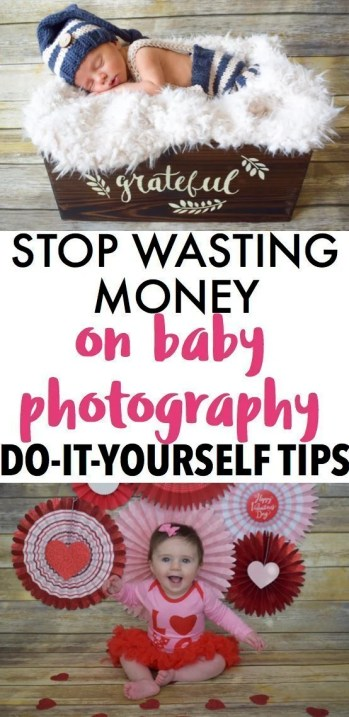 DIY baby photography. Take beautiful photos of your infant with just your cellphone if you follow these tips. The key is good lighting and props and you can take professional looking pictures at home for very little cost