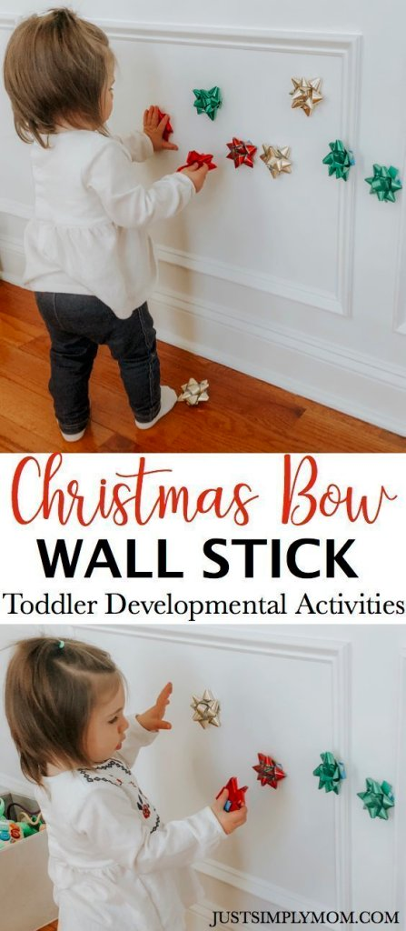 toddler bow wall stick pin