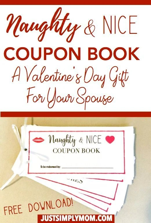 Naughty & Nice Coupon Book For Your Spouse