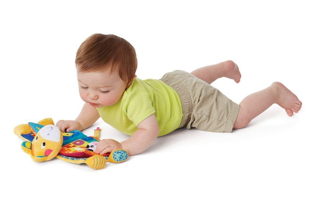 Here are several baby activities for your 3 to 4 month old. Playing with your baby will stimulate their senses & improve motor development, cognition, and language