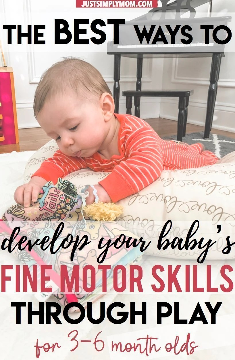 Fine Motor Play for 3-6 Month Old Babies