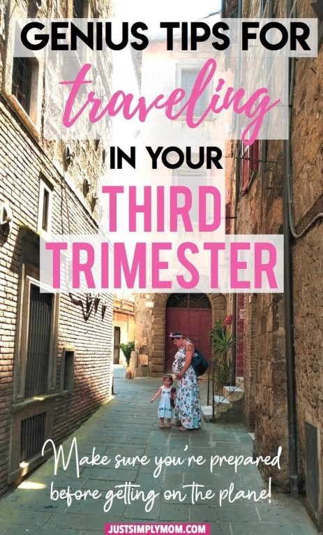 Have to take a trip in your third trimester of pregnancy? Follow these tips to stay safe and energized while traveling.