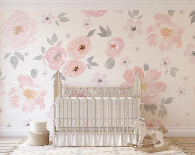 Pink and Grey Nursery Room ideas for your baby girl incorporating blush pink, ivory, grey, and white for a beautiful, romantic, and light feel for a sweet baby girl.