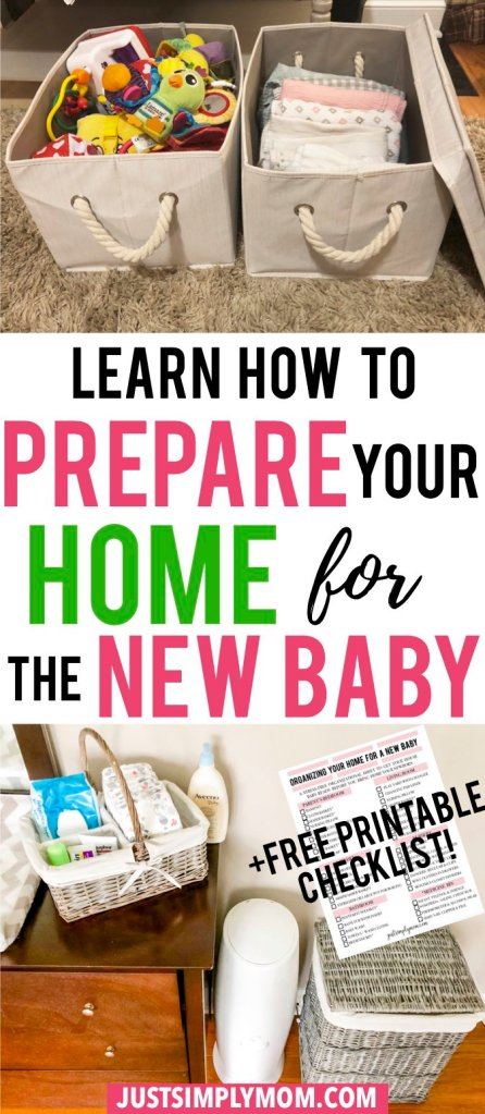 Preparing and organizing your house before you bring home a new baby can take a long time. It's not just the nursery that has to be set up for your newborn, but the kitchen, living room, and parent's rooms all will be filled with baby gear soon. Give in to that nesting itch while you're pregnant and get your house ready before baby comes