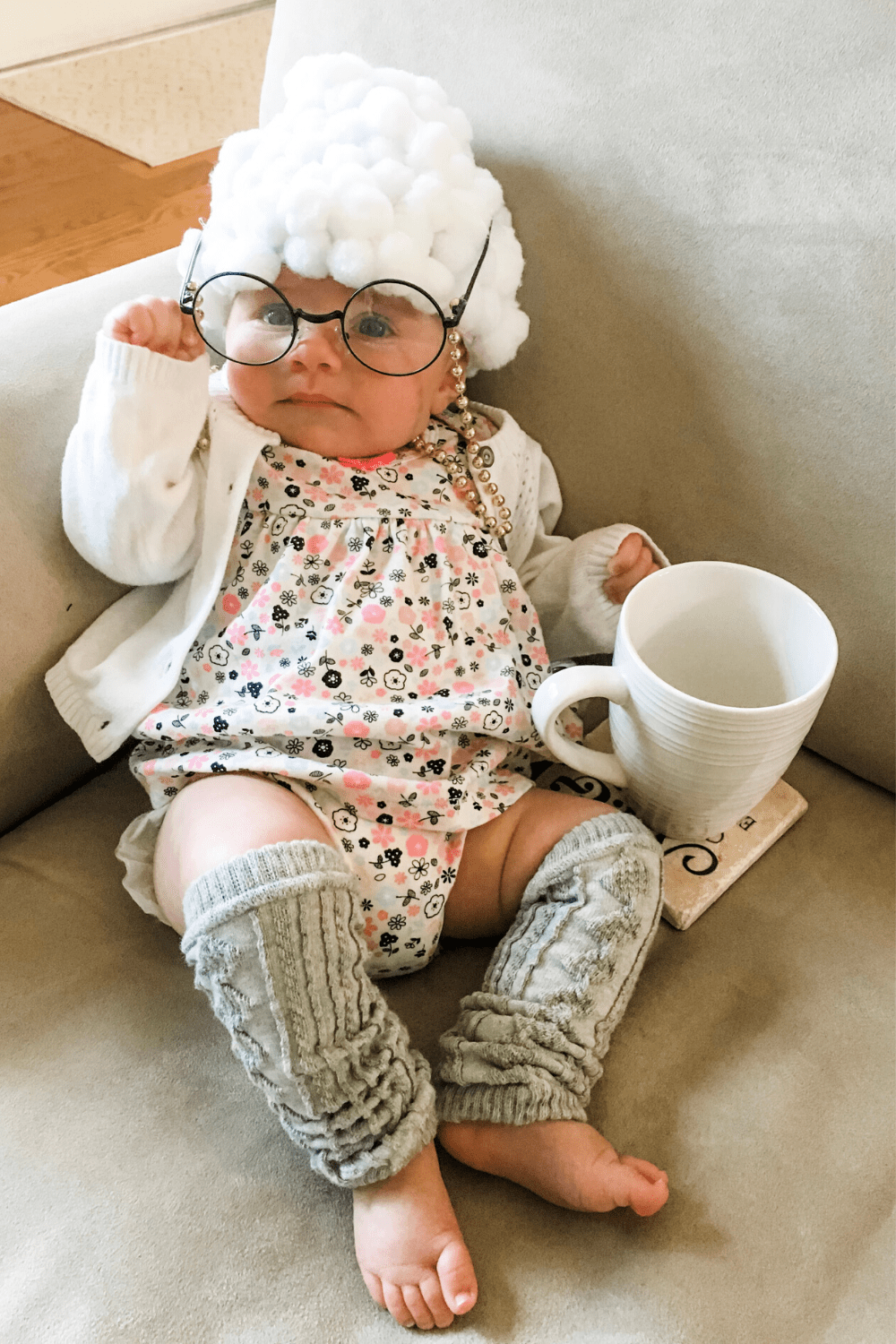 DIY Old Lady Baby Costume