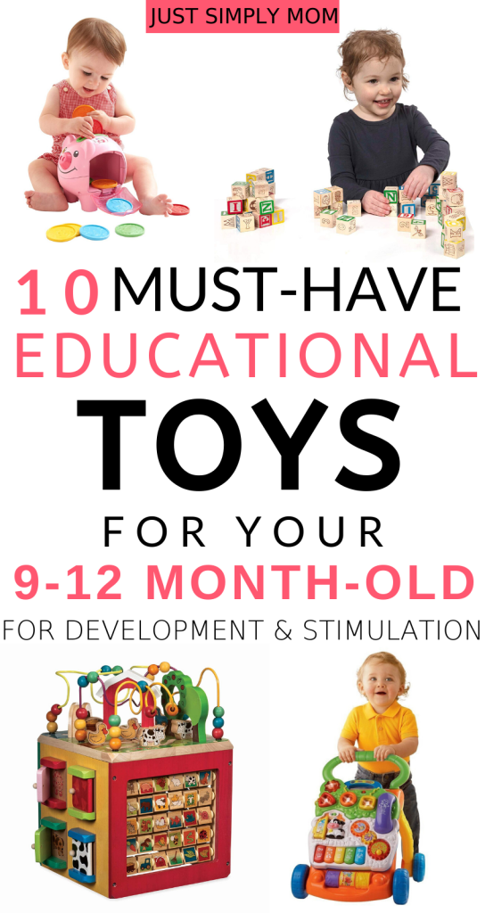 These are the top toys that your 9, 10, 11, or 12 month old baby will love and keep them entertained, stimulated, and learning. They will help to develop a variety of skills, including fine and gross motor skills, sensory exploration, cause-and-effect, and hand-eye coordination