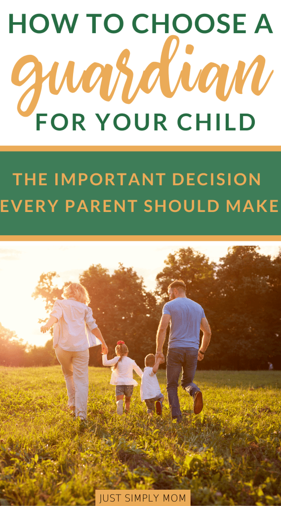 Choosing a guardian for your child, if the unthinkable happens, is an important decision that we must make. It could be one that changes our child's future.