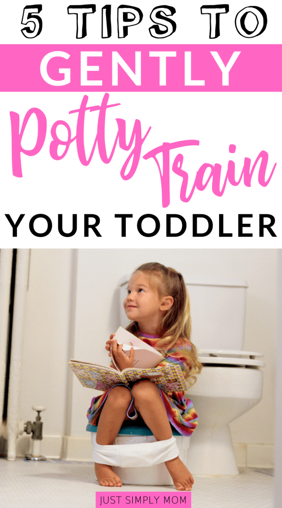 Gentle potty training techniques allow your toddler to use the toilet at their own pace and without becoming frustrated. It's an easy but slower way to train.