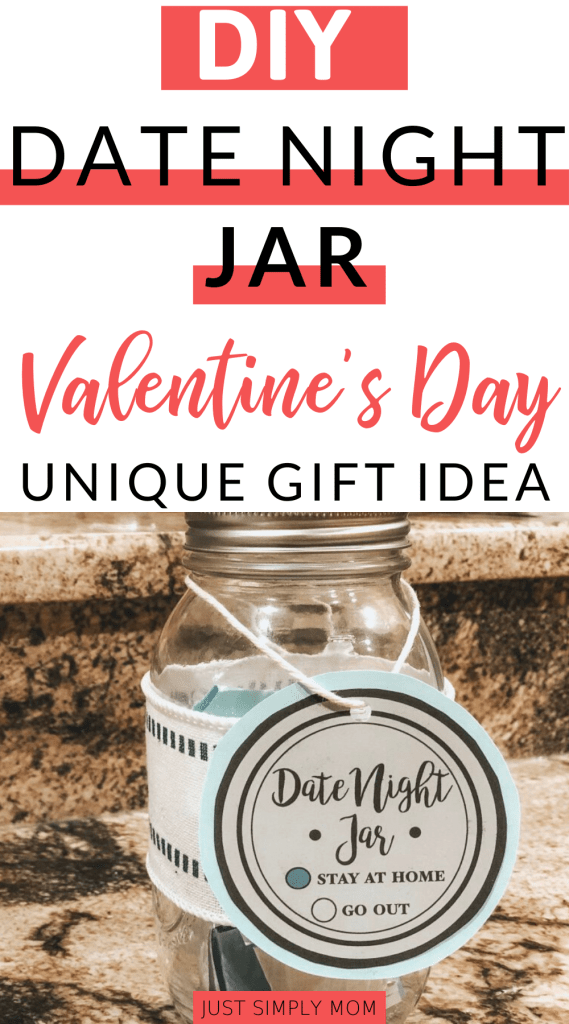Marriage takes work especially when you have babies or toddlers around. Keeping that spark and romance alive is important for your whole family. Here is an idea for a date night jar so you can still date each other even after many years of marriage. You can use this as a unique Valentine's Day gift for your spouse or partner.