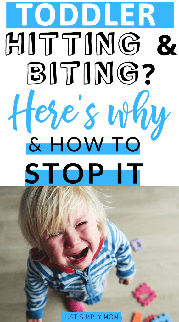Learn positive behavior strategies to stop your toddler or child from challenging behaviors like hitting, buting, hair pulling, pushing, and kicking.