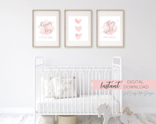13 Blush Pink And Grey Nursery Inspirations Just Simply Mom
